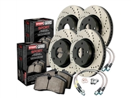 2010-2015 Camaro SS Cross Drilled Sport Kit (Rotors, lines, and pads) #979.62001 by StopTech