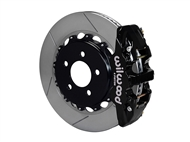 "Wilwood AERO4 Rear Big Brake Kit, Black 4 Piston Calipers, 14.25"" Slotted Rotors :: 2016-2019 Camaro SS"