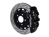 "Wilwood AERO4 Rear Big Brake Kit, Black 4 Piston Calipers, 14.25"" Drilled & Slotted Rotors :: 2016-2019 Camaro SS"
