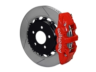 "Wilwood AERO4 Rear Big Brake Kit, Red 4 Piston Calipers, 14.25"" Slotted Rotors :: 2016-2019 Camaro SS"