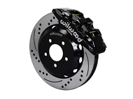 "Wilwood AERO6 Front Big Brake Kit, Black 6 Piston Calipers, 15"" Drilled & Slotted Rotors :: 2016-2019 Camaro LS, LT, RS,SS, & ZL1"