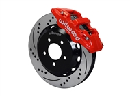 "Wilwood AERO6 Front Big Brake Kit, Red 6 Piston Calipers, 15"" Drilled & Slotted Rotors :: 2016-2019 Camaro LS, LT, RS,SS, & ZL1"