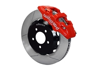 "Wilwood AERO6 Front Big Brake Kit, Red 6 Piston Calipers, 15"" Slotted Rotors :: 2016-2019 Camaro LS, LT, RS,SS, & ZL1"