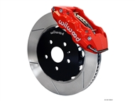 2010-2015 Camaro SS W6A Front Big Brake Kit (6 piston, slotted, red caliper) #140-11269-R by Wilwood