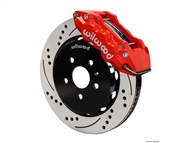 Camaro SS W6A Front Big Brake Kit (6 piston, Drilled and Slotted, red caliper) #140-11269-DR by Wilwood