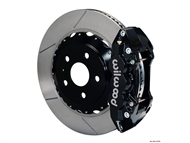 2010-2015 Camaro SS W4A Rear Big Brake Kit For OE Parking Brake (4 piston, Drilled and Slotted, black caliper) #140-11270
