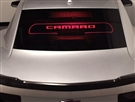 Wind Restrictor Coupe Glow Plate - Etched & Illuminated - 2010-2015 Camaro Coupe