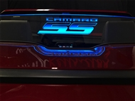 WindRestrictor Convertible Wind Deflector - Etched - Illuminated :: 2016-2018 Camaro Convertible
