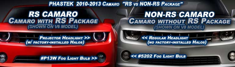 RS vs NON-RS Camaro Factory Add-On Appearance Packages for