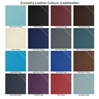 Eco leather swatches mounted on wood