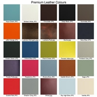 Premium leather swatches mounted on wood