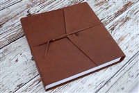"6x6"", 7x5"" or 8x6"" Album - Leather wrap - Smooth Fine Art Paper"