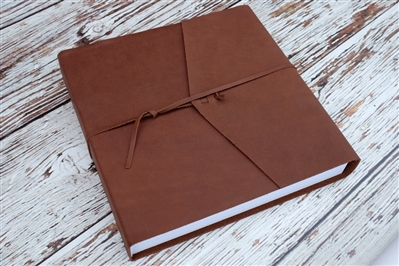"14x11""  or 14x12"" Album - Leather wrap - Velvet Photo Paper"