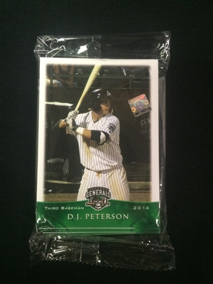 2014 Jackson Generals Team Card Set