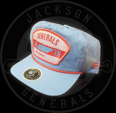 Blue/Orange Trucker Cap