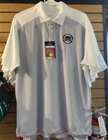 Columbia White Checkered Polo