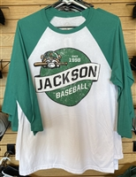 Green & White 3/4 Sleeve