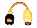 Marinco 110A Pigtail Adapter--30A Locking to 50A Locking