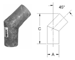Exhaust System Fiberglass 45 Degree Elbow Fitting