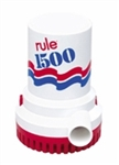 Rule Pumps Non-Automatic 12 Volt DC Bilge Pump, 1500 GPH # 02