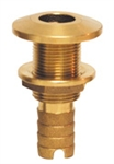 Thru-Hull Fitting with Nut for Hose Bronze