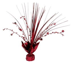 Red Foil Spray Centerpiece | Party Supplies