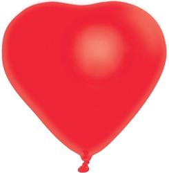 "Heart-Shaped 12"" Latex Balloons 