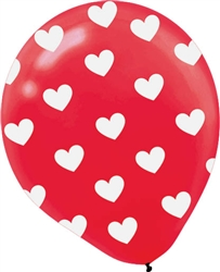 "Heart All-Over 12"" Latex Balloons 