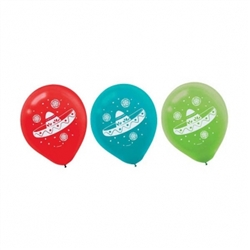 Fiesta Latex Balloons | Party Supplies