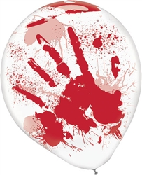 Asylum Printed Red Blood Splatter Balloons | Party Supplies