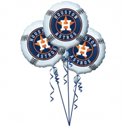 Houston Astros 3-Pack Balloons | Party Supplies