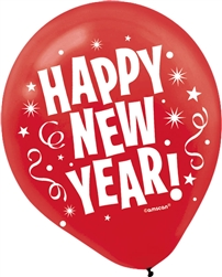 Happy New Year Latex Balloons | New Year's Products