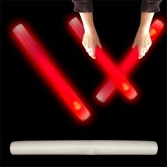 "16"" Foam Red LED Cheer Stick 