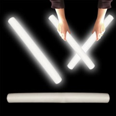 "16"" Foam White LED Cheer Stick for Sale"