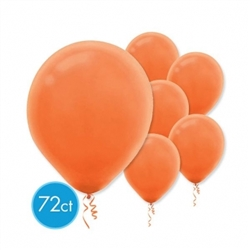 "Orange 12"" Latex Balloon - 72 