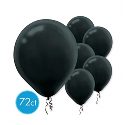 "Black 12"" Latex Balloon - 72 
