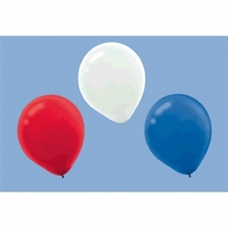 Red/White/Blue Latex Balloons | Party Supplies