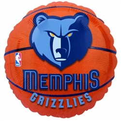 Memphis Grizzlies Metallic Balloons | Party Supplies