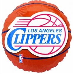 LA Clippers Metallic Balloons | Party Supplies