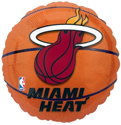 Miami Heat Metallic Balloons | Party Supplies
