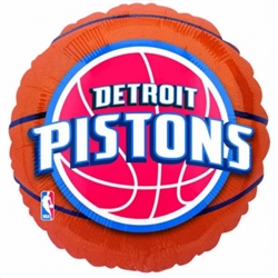 Detroit Pistons Metallic Balloons | Party Supplies