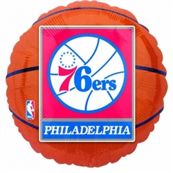 Philadelphia 76ers Metallic Balloons | Party Supplies