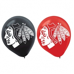 Chicago Blackhawks Latex Balloons | Party Supplies