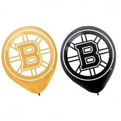 Boston Bruins Latex Balloons | Party Supplies