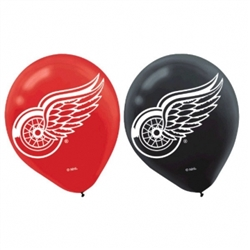 Detroit Red Wings Printed Latex Balloons | Party Supplies