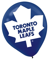 Toronto Maple Leafs Printed Latex Balloons | Party Supplies