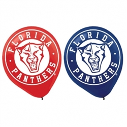 Florida Panthers Printed Latex Balloons | Party Supplies