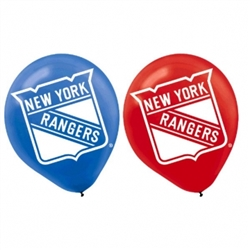 New York Rangers Printed Latex Balloons | Party Supplies