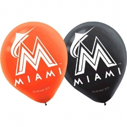 Miami Marlins Latex Balloons | Party Supplies