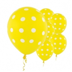 Yellow Dot Latex Balloons | Party Supplies